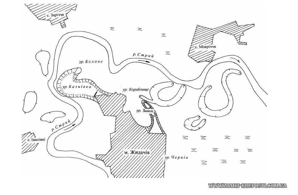 Жидачов: план-схема 2-х
