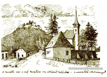 Хустський замок на малюнку 1885 року