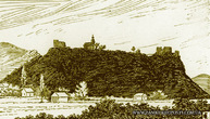 Малюнок Нялабского замку - вид зі сходу