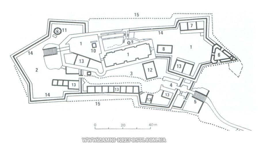 План Хустского замка 3