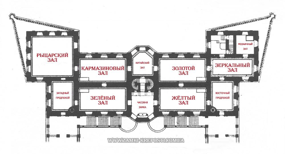 замок: планировка 2-го