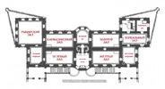 Подгорецкий замок: планировка 2-го этажа дворца