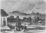 Королево та замок Нялаб, вид з заходу, 1862