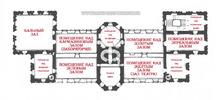 Подгорецкий замок: планировка 3-го этажа дворца