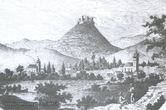 Хустський замок на гравюрі 19 століття