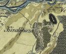 Королево та замок Нялаб на фрагменті австрійської карти 2-ї половини 18 століття